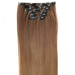 Long Straight Clip-In Heat Resistant Synthetic Hair Extension Suit For Women - /