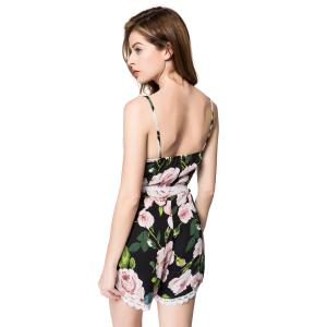 Sexy Spaghetti Strap Floral Print Rompers For Women -