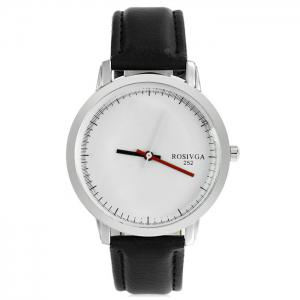 Rosivga 252 Business Quartz Watch with Leather Band for Men -