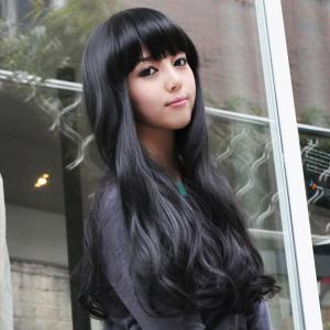 Elegant Long Wave Charming Full Bang Heat Resistant Synthetic Capless Wig For Women -