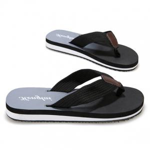 Stylish Flip Flop and Ombre Design Men's Casual Shoes - BLACK 43