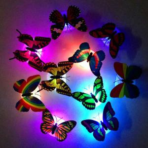 1pcs Colorful Luminous Butterfly Nightlight Stickers Small Night Lamp Indoor Wall Lighting - Multicolor - 50*70cm