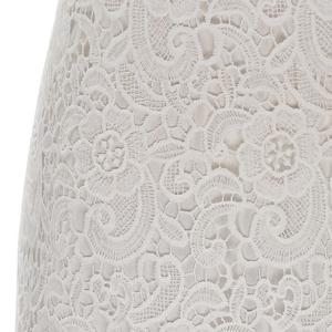 Sexy Round Neck Sleeveless Solid Color Cut Out Women's Lace Dress -
