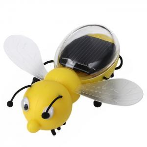 Solar Power Bee Animal Educational Toy with Solar Panel - Yellow