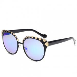 Stylish Women's Diamond Shape Alloy Embellished Sunglasses
