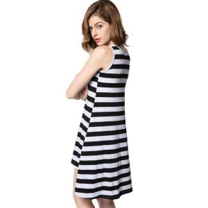 Striped Casual Summer Tank Dress -