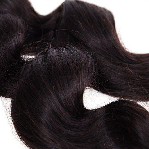 New 6A Natural Black Virgin Hair 20 Inch Popular Brazilian Loose Wavy Hair Weft For Women -   Mobile