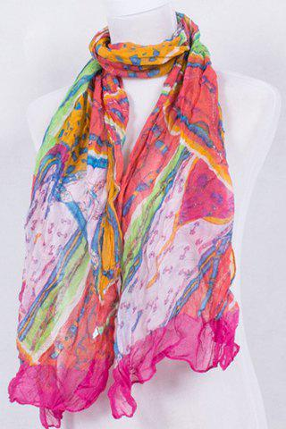 Best Chic Chains Pattern Patchwork Voile Scarf For Women