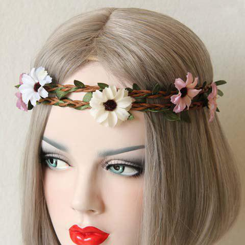 Sweet Floral Shape Double-Layered Hairband For Women - COLORMIX