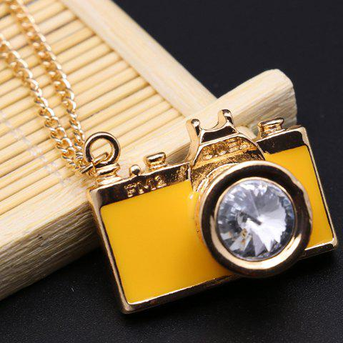 Affordable Classic Camera Shape Letter Printed Pendant Necklace For Women