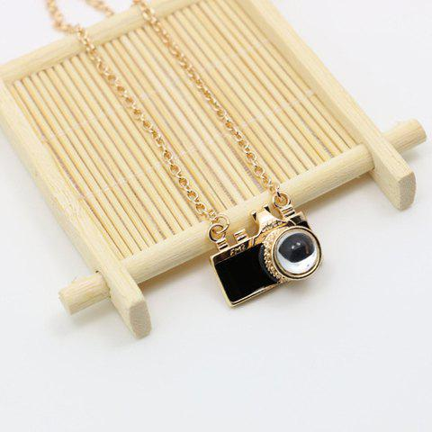 Chic Camera Pendant Necklace For Women - BLACK