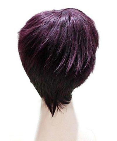 Sale Natural Straight Top Quality Synthetic Hair Side Bang Mixed Color Casual Style Women's Short Wig - COLORMIX  Mobile