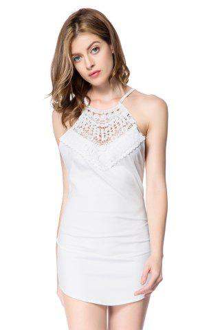 Online Sexy Round Neck Sleeveless Hollow Out Criss-Cross Women's Dress