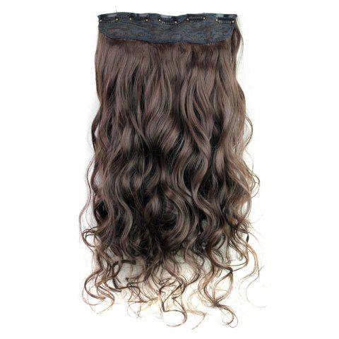 Unique Fashion 23 Inch Long Curly Clip-In Heat Resistant Synthetic Hair Extension For Women - 04#  Mobile