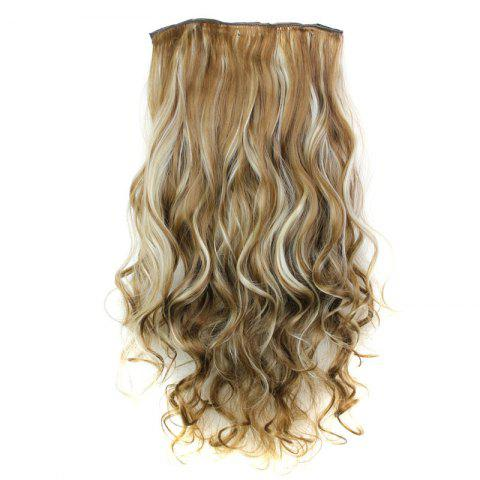 Discount Fashion 23 Inch Long Curly Clip-In Heat Resistant Synthetic Hair Extension For Women 6H613