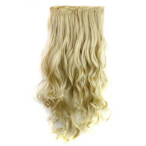 Fashion Fashion 23 Inch Long Curly Clip-In Heat Resistant Synthetic Hair Extension For Women 24-613