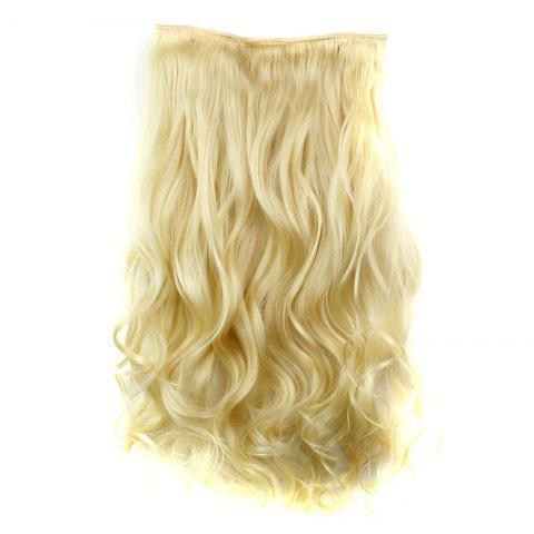 Chic Fashion 23 Inch Long Curly Clip-In Heat Resistant Synthetic Hair Extension For Women - 613#  Mobile