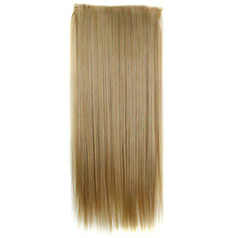 Outfits Trendy 23 Inch Long Straight Clip-In Heat Resistant Synthetic Hair Extension For Women - 27/613#  Mobile