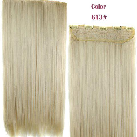 Outfits Trendy 23 Inch Long Straight Clip-In Heat Resistant Synthetic Hair Extension For Women