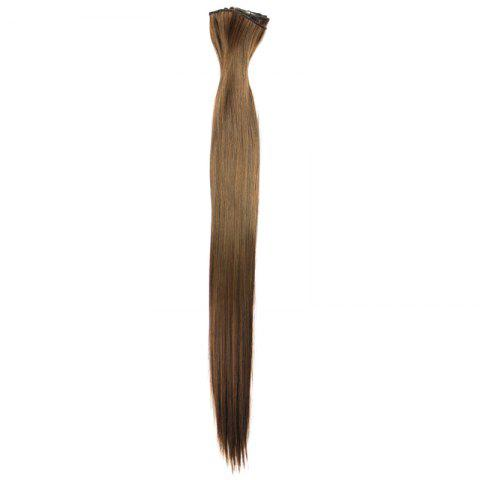 Trendy Long Straight Clip-In Heat Resistant Synthetic Hair Extension Suit For Women - 2/30#  Mobile