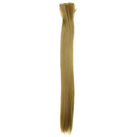 Buy Long Straight Clip-In Heat Resistant Synthetic Hair Extension Suit For Women - 24/27#  Mobile