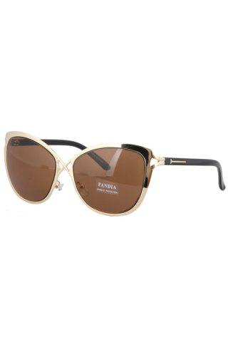 Buy Chic Hollow Out Golden Cross Sunglasses For Women