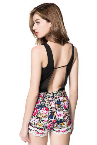 Outfits Spaghetti Strap Deep V Romper - M COLORMIX Mobile