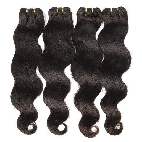 Outfit Natural Black Body Wavy Glossy 6A Unprocessed Women's Brazilian Virgin Hair Extension 8-30 Inch