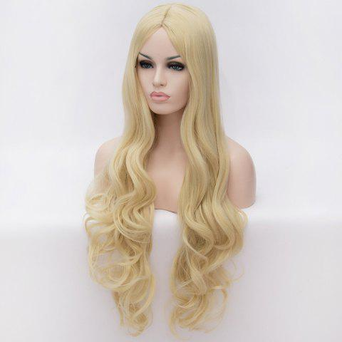 Outfit 70CM Multi-Layered Blonde Long Wavy Centre Parting Charming Lolita Style Women's Synthetic Party Wig - COLORMIX  Mobile