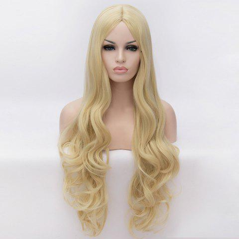 Cheap 70CM Multi-Layered Blonde Long Wavy Centre Parting Charming Lolita Style Women's Synthetic Party Wig - COLORMIX  Mobile