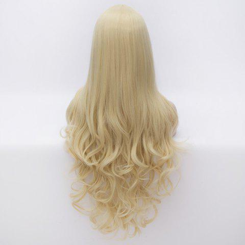 Fancy 70CM Multi-Layered Blonde Long Wavy Centre Parting Charming Lolita Style Women's Synthetic Party Wig - COLORMIX  Mobile