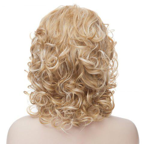 Outfit Fashion Fluffy Charming Medium Curly Light Blonde Synthetic Capless Wig For Women - LIGHT GOLD  Mobile