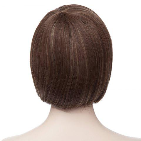 Shop Fashion Side Bang Charming Short Straight Bob Mixed Color Synthetic Capless Wig For Women - COLORMIX  Mobile