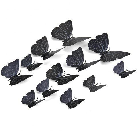 Buy 12pcs PVC 3D Butterfly Wall Decor Cute Butterflies Wall Stickers Art Decals Home Decoration (Random Pattern)