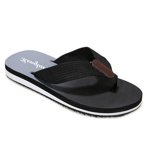 Hot Stylish Flip Flop and Ombre Design Men's Casual Shoes - 43 BLACK Mobile