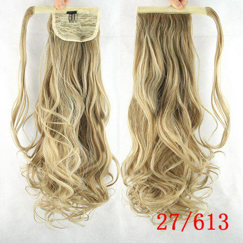 Charming Wave Long Romantic Synthetic Heat Resistant Fiber Ponytail For Women - 27 And 613#