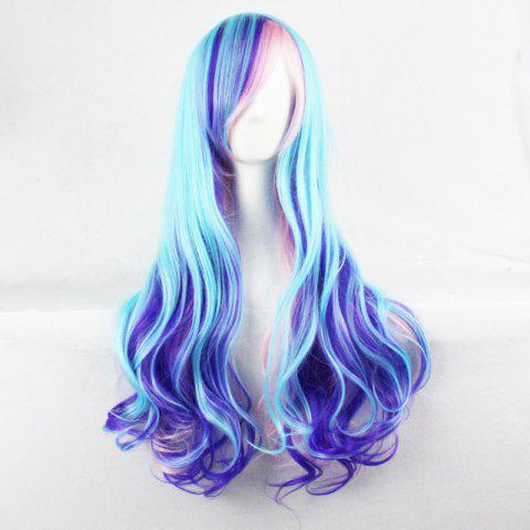 Best Harajuku Cosplay Lolita Style 70CM Fancy Color Shaggy Long Wavy Side Bang  Attractive Costume Wig - COLORMIX  Mobile