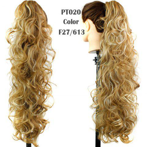 Discount Stylish Capless Heat Resistant Synthetic Charming Long Curly Ponytail For Women
