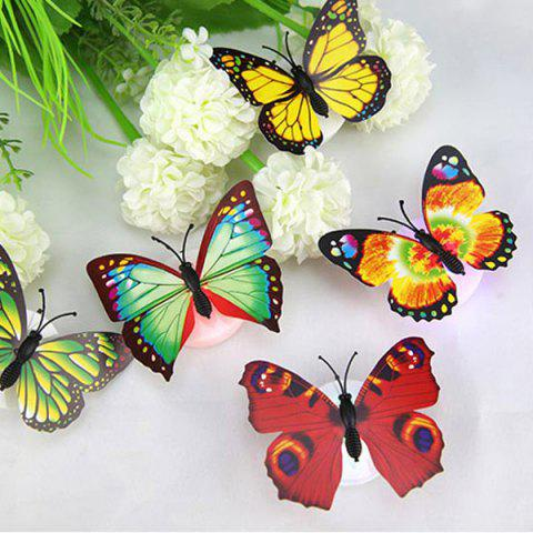 New 1pcs Colorful Luminous Butterfly Nightlight Stickers Small Night Lamp Indoor Wall Lighting -   Mobile