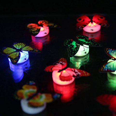 Sale 1pcs Colorful Luminous Butterfly Nightlight Stickers Small Night Lamp Indoor Wall Lighting -   Mobile
