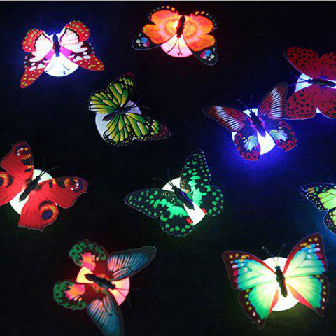 Store 1pcs Colorful Luminous Butterfly Nightlight Stickers Small Night Lamp Indoor Wall Lighting -   Mobile