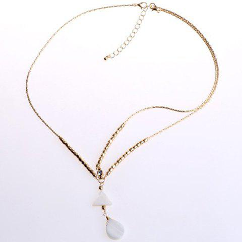 Best Trendy Bohemian Style Triangle and Waterdrop Shape Hairband For Women WHITE/GOLDEN