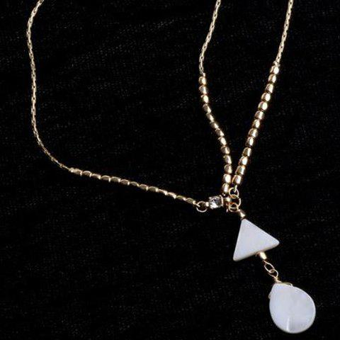 Outfit Trendy Bohemian Style Triangle and Waterdrop Shape Hairband For Women - WHITE AND GOLDEN  Mobile