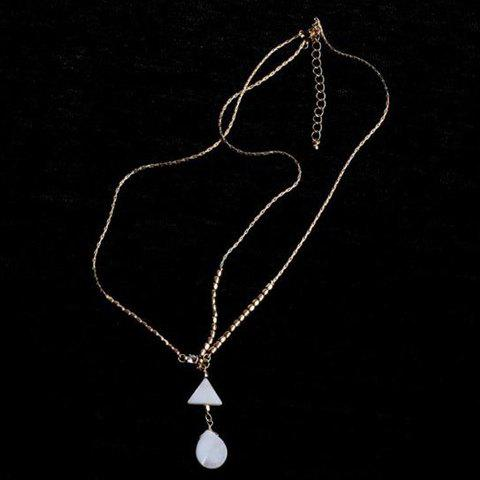 Cheap Trendy Bohemian Style Triangle and Waterdrop Shape Hairband For Women - WHITE AND GOLDEN  Mobile