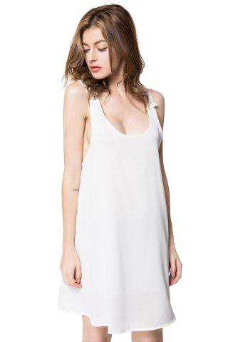 Buy Sexy V-Neck Sleeveless Backless Laciness Women's Dress