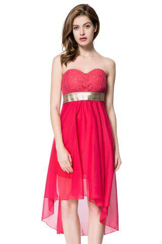 Cheap Strapless High Low Maid of Honor Dress