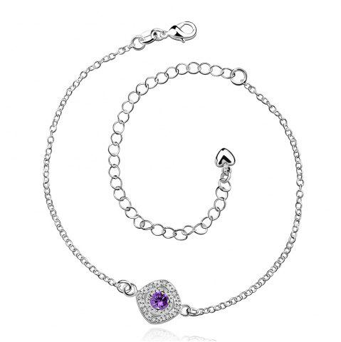 Chic Stylish Rhinestone Spliced Printed Anklet