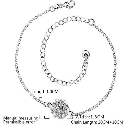 Best Classic Round Rhinestone Hollow Out Solid Color Fancy Anklets - WHITE  Mobile
