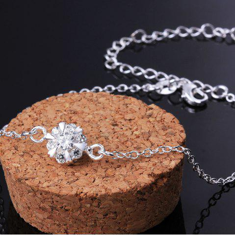 Sale Classic Round Rhinestone Hollow Out Solid Color Fancy Anklets - WHITE  Mobile