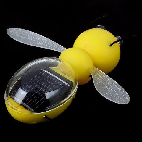 Hot Solar Power Bee Animal Educational Toy with Solar Panel - YELLOW  Mobile